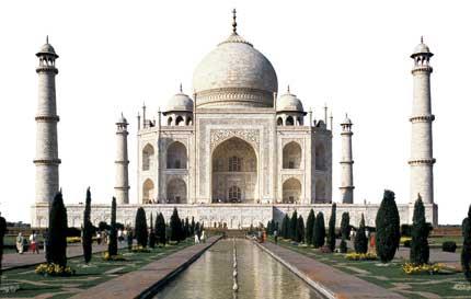 The Taj Mahal built during reign of Mughal emperor, Shah Jahan 1628-1658