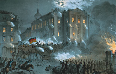 Illustration: Barricades in Berlin 1848