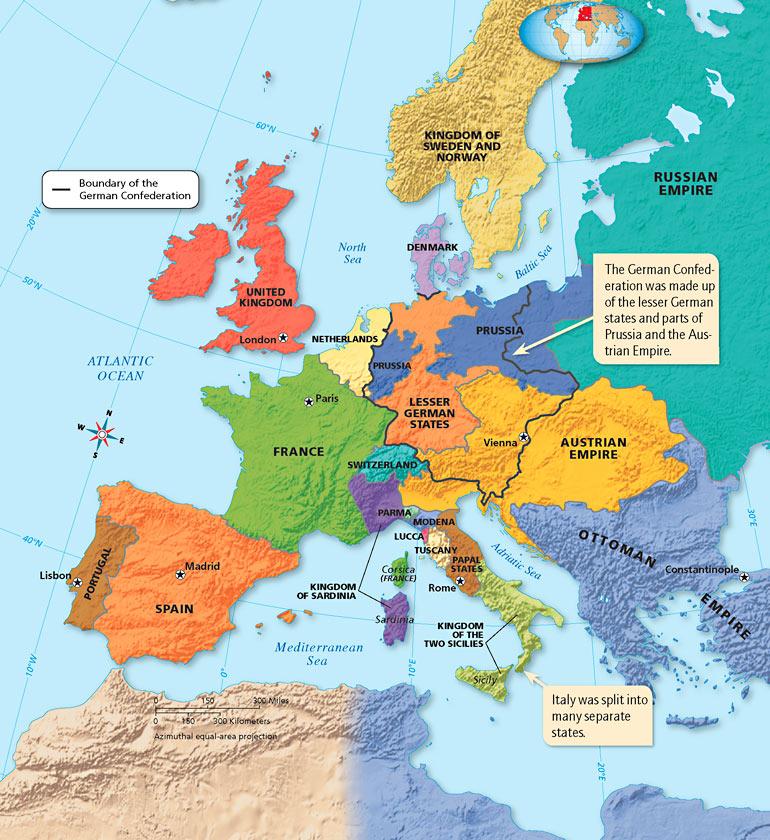 Map: Europe, 1815