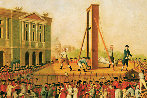 Illustration: Execution at a guillotine