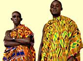 Photograph of West African men in kente cloth Credit: Owen Franken/CORBIS