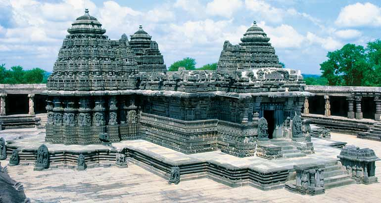 Indian artists created elaborately carved temples.