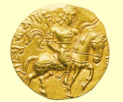 This coin is an example of Indian metalwork.
