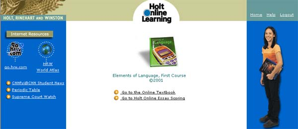 Holt Online Essay Scoring: Teacher Support